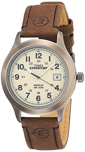 Timex Herren Analog Quarz Uhr mit Leder Armband T498709J