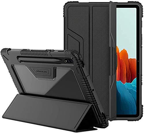 Funda para Samsung Galaxy Tab S7 De 11 Pulgadas 2020 (SM-T870 / 875), Funda Protectora De Cuerpo Entero con Borde De TPU Suave Y Carcasa Trasera Transparente,Galaxy Tab S7 11