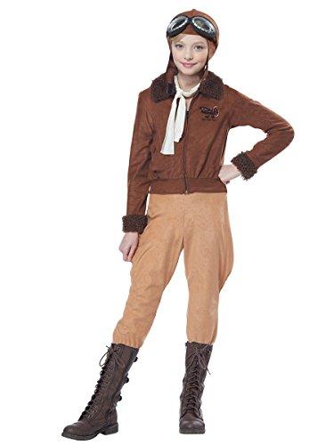California Costumes Girls Amelia Earhart/Aviator Child Costume