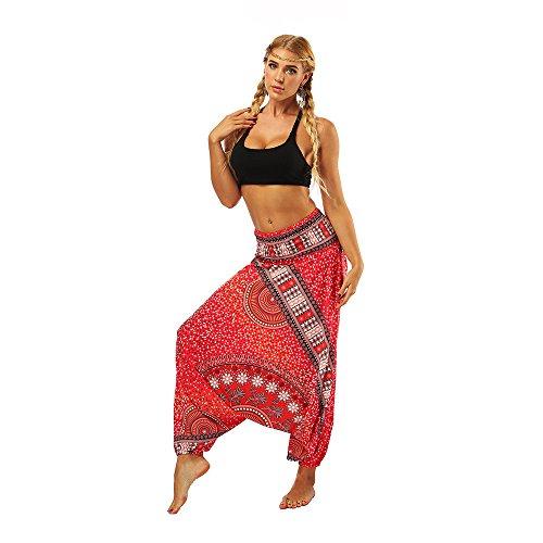 KEERADS Femmes Pantalon des Sports Sweat-Shirt Fermeture éclair Loisir Survêtements Les Pantalons de Yoga Jogging Sport Elastique Extensible Sportswear(Une Taille,Rouge)