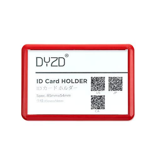 DYZD 安全ピンバッジホルダー 硬質プラスチック IDカードホルダー 防水 IDホルダー ピンIDバッジカードホルダー 6 PCS