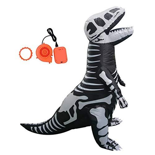 Disfraz inflable de dinosaurio para adulto/adolescente Tyrannosaurus Rex Esqueleto Halloween Decoracin del hogar