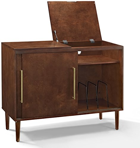 Crosley Furniture Everett Mid-Century Modern Media Console, Mahogany