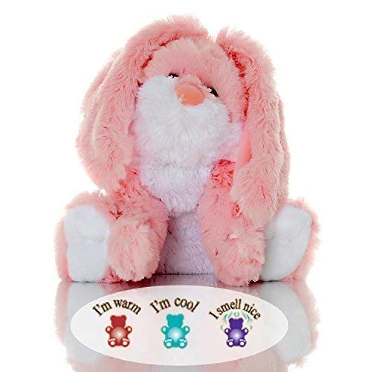 投票一部北へSootheze Rosey Bunny Rabbit - Microwavable Stuffed Animal - Weighted Lavender Scented Aromatherapy - Hot and Cold Therapy - 10.5