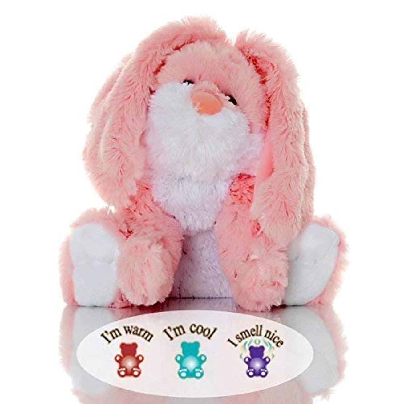 出席する退化する緑Sootheze Rosey Bunny Rabbit - Microwavable Stuffed Animal - Weighted Lavender Scented Aromatherapy - Hot and Cold Therapy - 10.5