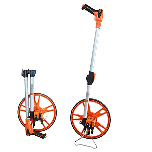 LCJJXLK Entfernungsmessrad Griff Mechanisches Messrad Messräder Maximale Messentfernung 99999,9 Meter Raddurchmesser 318mm