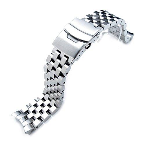 Uhrband Typ SUPER Engineer II, 22mm, massiver Edelstahl, mit abgerundetem Ende, für Seiko SKX007