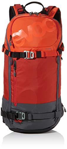 evoc FR Day 16l, Protector Rucksack, Chili red/Carbon Grey, M/L