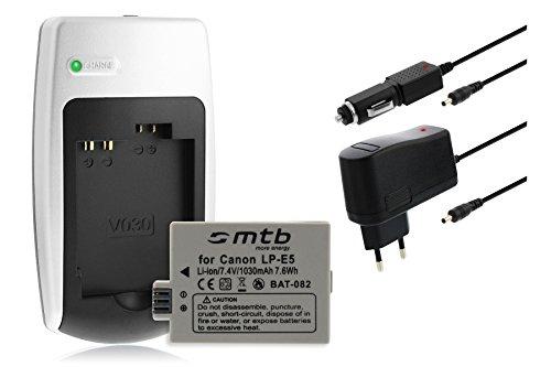 Batería + Cargador LP-E5 para Canon EOS 450D, 500D, 1000D, Kiss F.Ver Lista!