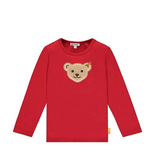 Steiff Jungen T-Shirt Langarm Langarmshirt, Rot, 104 (Herstellergröße:080)
