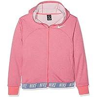 NIKE G NK Dry Hoodie FZ Studio Chaqueta, Niñas, Rosa (Pink Nebula/htr/Pink Nebula/White), S