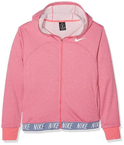 Nike Mädchen Jacke Dri-FIT Studio Full Zip Hoodie, Pink Nebula/Htr/Ashen Slate/Wh, L, 939533