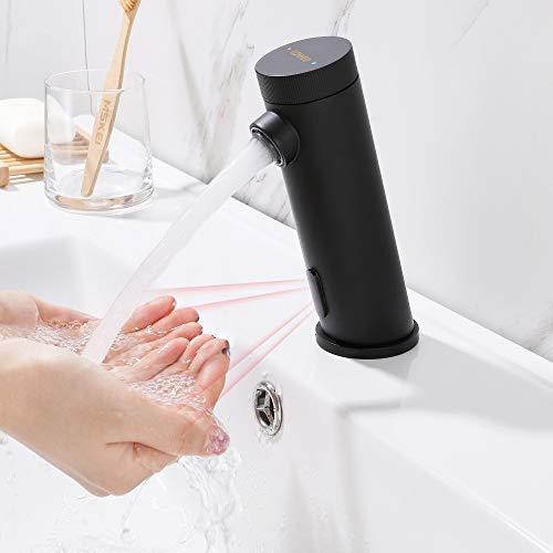 Lonheo Grifo Lavabo Negro con Sensor Automático,...