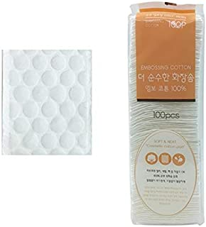 Clean Soft Cotton Pads Makeup Remover and Facial Cleansing Embossing Square Pad 100 Count DN1005