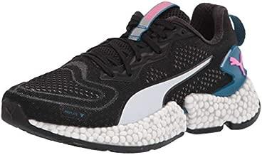 PUMA womens Speed Running Shoe, Puma Black-digi-blue-puma White-luminous Pink, 9 US