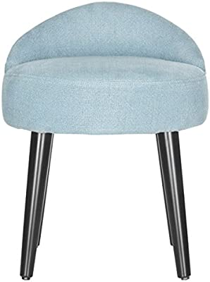 Enjoyable Amazon Com Light Gray Vanity Stool Velet Makeup Lounge Evergreenethics Interior Chair Design Evergreenethicsorg