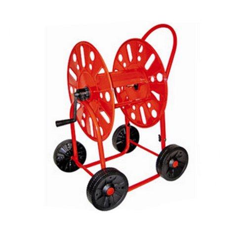 Schlauchwagen m. 4 Rädern 3/4 Zoll für 90 m, Gartenschlauchwagen Schlauchtrommel