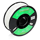 OVERTURE ABS Filament 1.75mm, ABS 1kg Spool (2.2lbs),3D Printer Consumables,Dimensional Accuracy +/- 0.05 mm, Fit Most FDM Printer(White 1-Pack)
