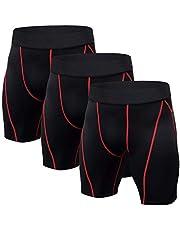 Niksa 3 Piezas Mallas Cortas Running Hombre Pantalones Cortos de Compresión para Deporte, Fitness, Gym