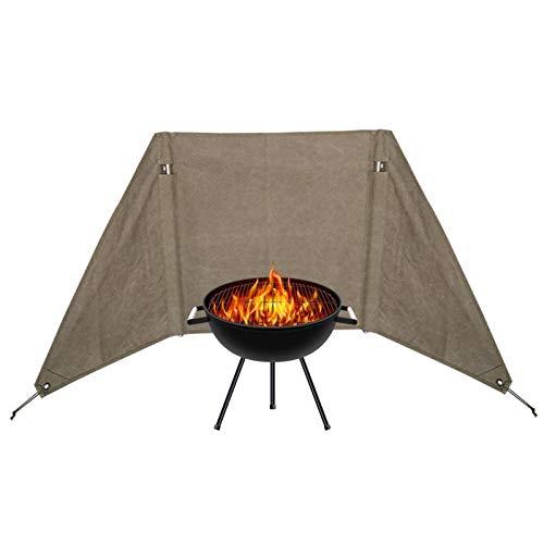 Banana - Parabrisas de campamento, hornillo plegable para camping, al aire libre, cocina a gas, cocina, cortavientos, tela de senderismo, picnic y cortavientos