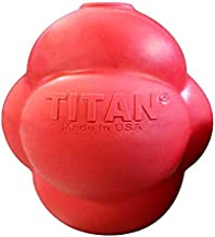 Titan Busy Bounce, Tough Durable Treat Dispensing Dog Toy with Unpredictable Bounce, Medium | Made in USA