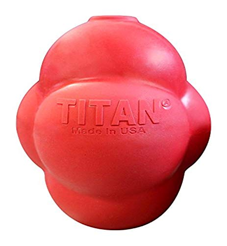 Titan Busy Bounce, Tough Durable Treat Dispensing Dog Toy with Unpredictable Bounce, Large | Made in...