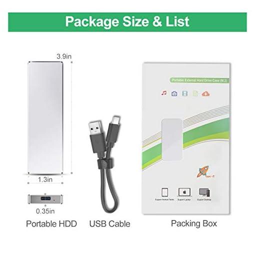 DOJGT Cajas para Disco Duro, USB 3.0 Premium Aluminio 2.5 para Disco Duro Externo 7