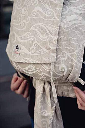 LIMAS Babytrage Halfbuckle | 50-86 cm | Bauchtrage & Rückentrage & Hüfttrage | ab Geburt bis Kleinkindalter | Baby Carrier | Ozeana mit Leinen