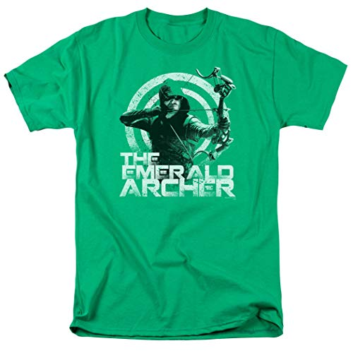 Arrow TV Show The Emerald Archer DC Comics T Shirt & Stickers (Large)