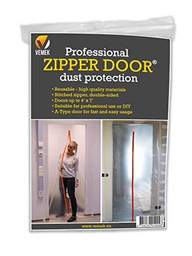 Professional Zipper Door, Dust Protection Wall, Zip Barrier for Dust Containment - Heavy-Duty Construction Access Door - Grow Room Seal - Reusable