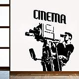jiuyaomai Kino Familie Wandaufkleber Kunst Wohnkultur Für Wohnzimmer Unternehmen Schule Dekoration wasserdichte Tapete Rosa 42 cm X 52 cm