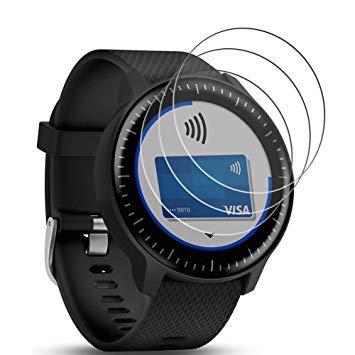 3 X Películas Vidro Temperado Protetora Para Relógio Garmin Vivoactive 3 Music