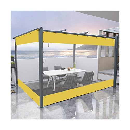 Telone Trasparente, PVC Impermeabile Le Tende Insieme A Occhielli, A Prova di Vento Campeggio Tenda for Balcone Gazebo, Giallo E Chiaro, Formato Personalizzato PENGFEI