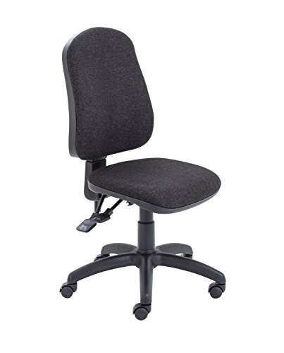 Office Hippo Small Office Chair for Home, Office Chair no Arms, Desk Chair for Office, Swivel Chair, Wheels, Charcoal Grey