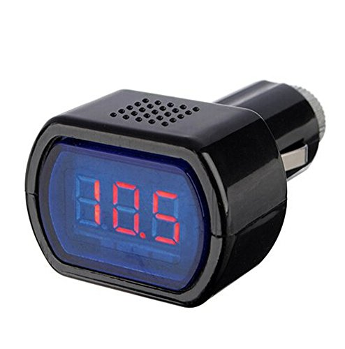 Demarkt 12-24V Zigarettenanzünder Batterie Tester Spannungsanzeige Voltmeter