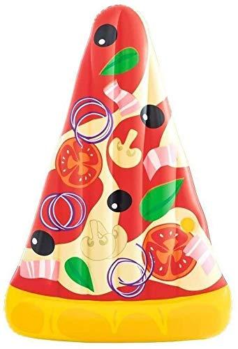 VIWIV Colchón inflable para piscina flotante fila cama de aire piscina inflable, 188 cm piscina balsa inflable, pizza fila flotante verano fiesta playa vacaciones y agua juguetes adultos chil