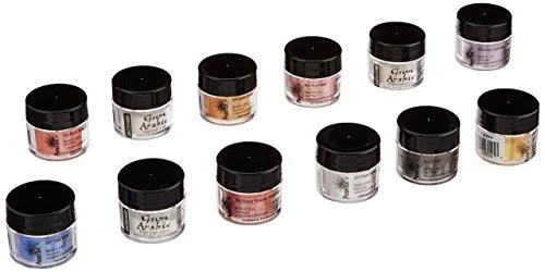 Jacquard Pigment, 3g Jars, Pearl Ex Metallic Calligraphy Set, None, 12