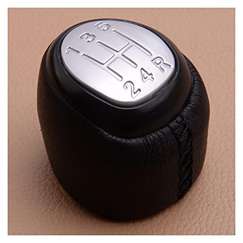 YANGAILIAN Silver 5 Speed Manual Gear Stick Shift Knob Shifter Head Top Cover Fit para Saab 9-3 2003-2005 2006 2007 2009 2009 2011 2011 2012 2012 2012 Pomos de Palanca de Cambios