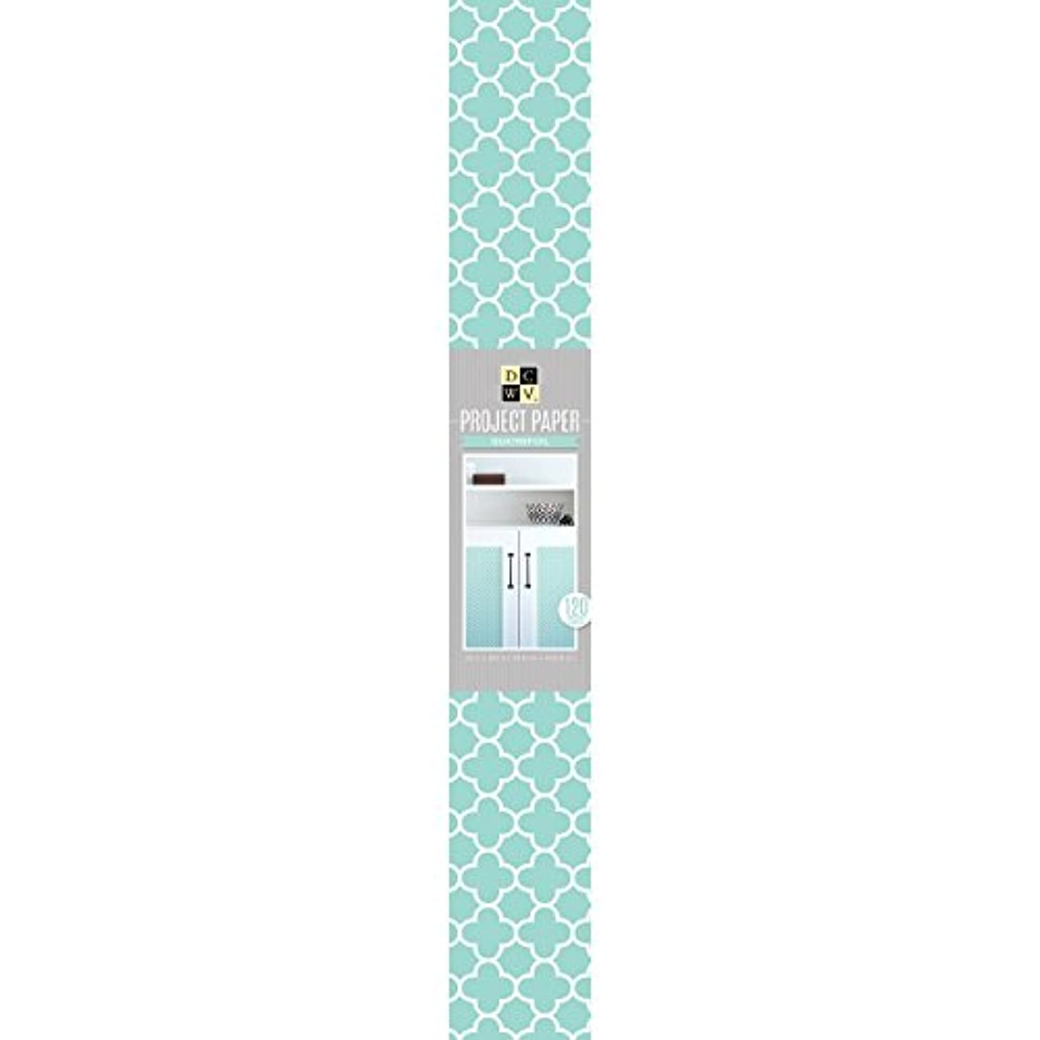 American Crafts 22 x 120 Teal Clove Geo Paper Roll by Die Cuts with A View,