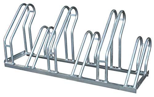 Aparcabicicletas de acero galvanizado para aparcar 6 bicicletas (1- Aparcabicicletas)