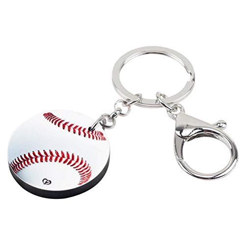 YCEOT Witte Honkbal Sleutelhangers Sleutelhanger Mode Sieraden Voor Vrouwen Meisje Dames Handtas Auto Bedels