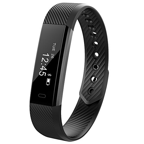 Fitness Trackers Bluetooth Smart Watch New Bracelet Activity Tracker with Call Reminder Calorie Counter Wireless Pedometer Band Sport Sleep Monitor For iOS and Android Phone (All Black)