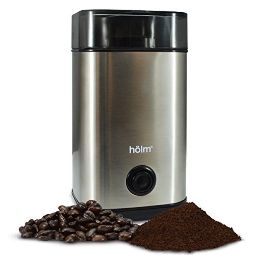 Holm Stainless Steel Electric Coffee Bean Grinder