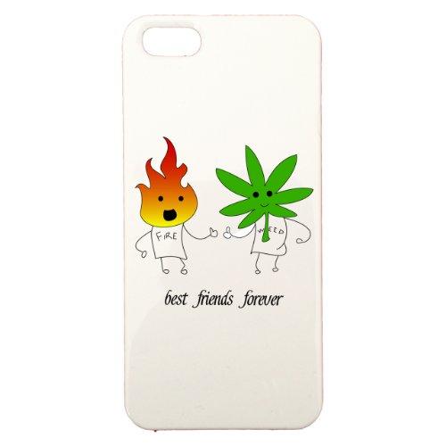 Cover di protezione personalizzabile in plastica–Apple–iPhone 5–Best Friends Forever–Colore: Bianca