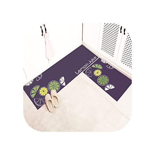 leaf-only Grauer Und Weißer Teppich, Bodenmatte Küchenteppiche Wohnzimmer Teppich Erker Bad Badezimmer rutschfeste Matte Teppich Streifen-Stil Türmatte Treppe Teppich-Orange-50x80cm