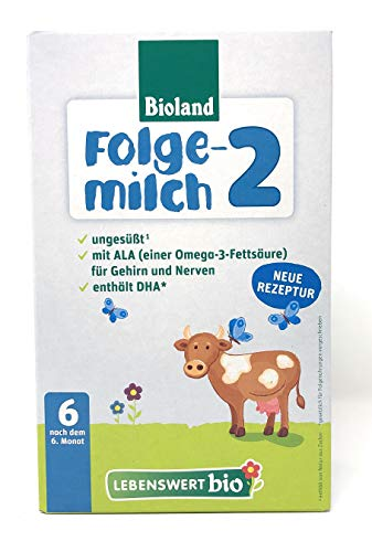 Bioland Lebenswert Bio Folgemilch 2, 1x500g
