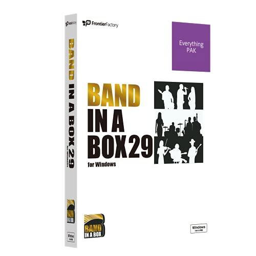 PG Music ピージーミュージック 自動作曲ソフト Band-in-a-Box 29 for Windows EverythingPAK バンドインアボックス ※2.5インチHDD