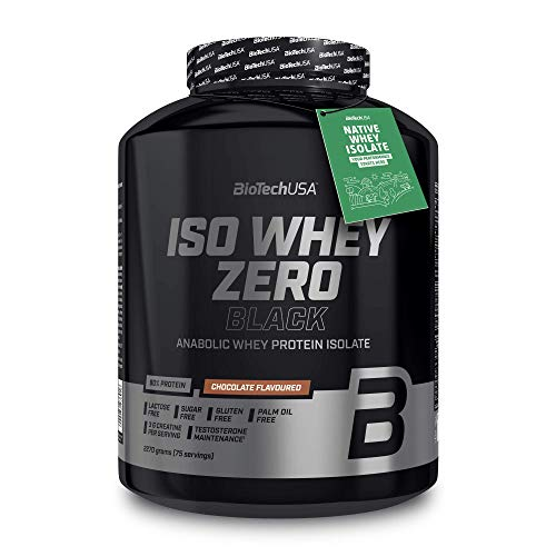 BioTechUSA Iso Whey Zero Black Flavoured Protein Powder Drink with 90% of Protein, Added creatine, Amino acids and zinc chelate, with Vitamin B3, 2.27 kg, Chocolate