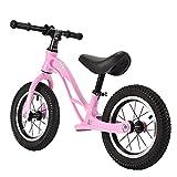 GASLIKE Bicicleta de Equilibrio para niños, sin Pedales, Ruedas de 12/14 Pulgadas, Asiento Ajustable, Primera Bicicleta para niños de 2-8 años de Edad, Estable y Segura,B 12inch Pink