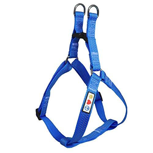 PAWTITAS verstellbares, Reflektierendes Step-in-Softgeschirr für Welpen | Hundegeschirr einstellbar ideal für sportliche Aktivitäten | Klein Hund - Blau Hundegeschirr